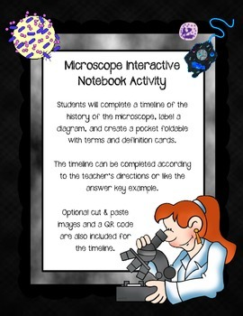 Microscope Interactive Notebook Activity