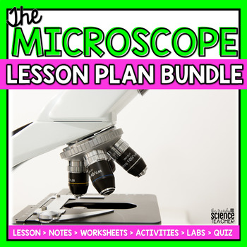 Microscope Mania: Graphic Organizer and Color the Parts Worksheet