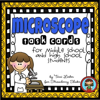 MICROSCOPE Task Cards for Middle and High School Biology L
