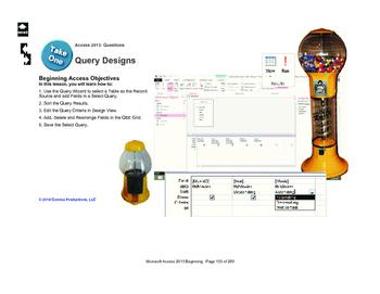 Microsoft Access 2013 Beginning: Query Designs