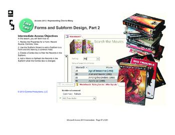 Microsoft Access 2013 Intermediate: The Search Form, part 2