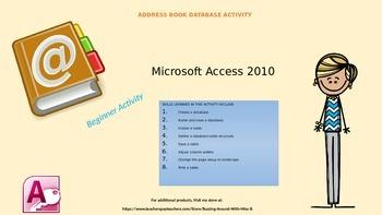 Microsoft Access - Lesson 1 - Addresses