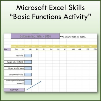 Microsoft Excel 2013 Basic Function & Formulas Lesson
