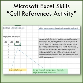 Microsoft Excel 2013 Cell References Lesson