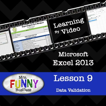 Microsoft Excel 2013 Video Tutorial - Lesson 9