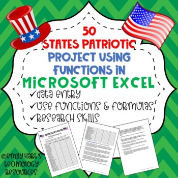 Microsoft Excel 50 States Project