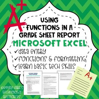 Microsoft Excel Basic Formulas Practice Project - Average