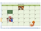 Calendar Creation Assignment for Microsoft Office Excel