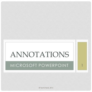 Microsoft PowerPoint 2013 Skills - Annotations Lesson