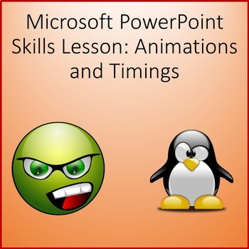 Microsoft PowerPoint 2013 Skills - Animations Lesson Activity