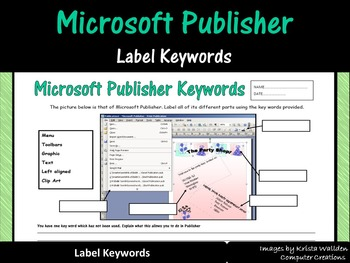 Microsoft Publisher - Label Keywords