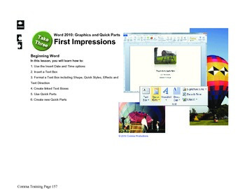 Microsoft Word 2010 Beginning: First Impressions