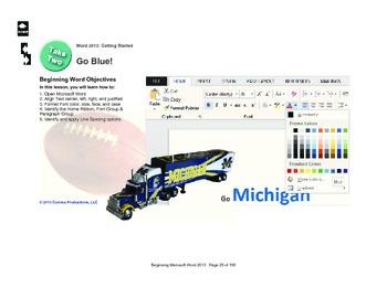 Microsoft Word 2013 Beginning: Go, Blue!