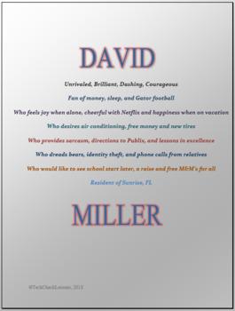 Microsoft Word 2013 Skills - Bio Poem Lesson