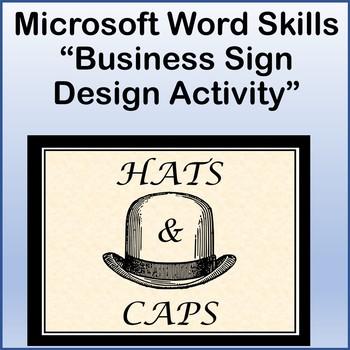 Microsoft Word 2013 Skills - Business Sign Design Lesson