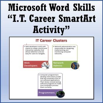 Microsoft Word 2013 Skills - IT Career SmartArt Lesson