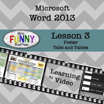 Microsoft Word 2013 Video Tutorial - Lesson 3