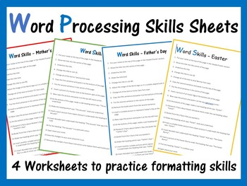 Microsoft Word Exercise Worksheets