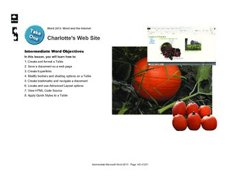 Microsoft Word 2013 Intermediate: Charlotte's Website