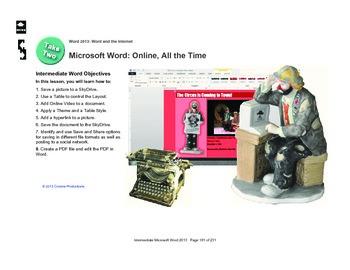 Microsoft Word 2013 Intermediate: Online