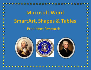 Microsoft Word President Poster using Shapes, Table & SmartArt