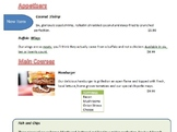 Microsoft Word - Restaurant Menu