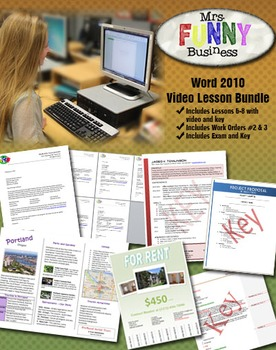 Microsoft Word 2010 Video Tutorial Bundle - Lessons 6-8
