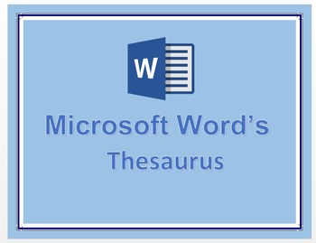 Microsoft Word's Thesaurus