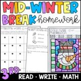 Mid-Winter Break/Presidents Day Homework Packet {PRINT & GO!}