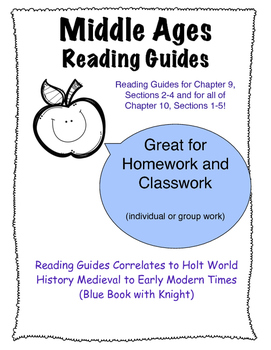 Middle Ages Reading Guide for Holt Text Book