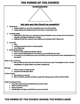 Middle Ages: The Power of the Church Lesson plan