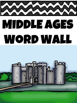 Middle Ages Word Wall Cards and Matching Activity, Dark Ag