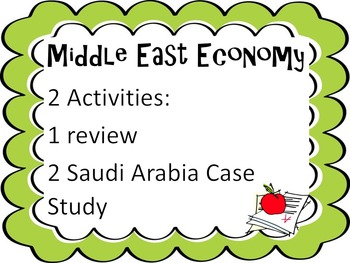 Middle East Economy Activties