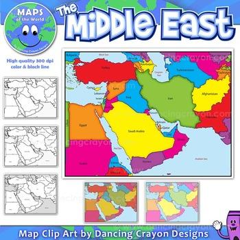 Middle East Maps: Clip Art Map Set