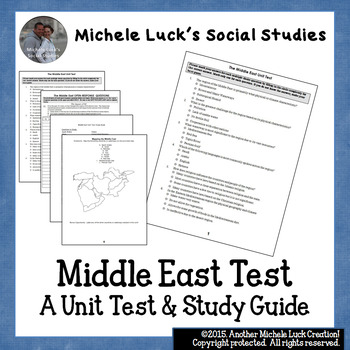 Middle East Unit Test and Study Guide for Geography