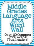 Middle Grades Language Arts Word Wall {Common Core Tier II