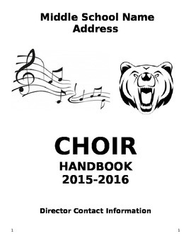 Middle/High School Choir Handbook