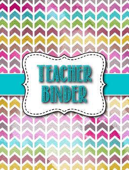 Middle/High School Geometric Theme Teacher Binder - Editable
