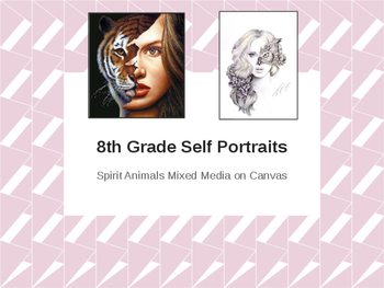 Middle & High School Spirit Animal Self Portrait Painting