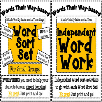 Middle/Late Syllables and Affixes Word Work Bundle