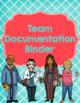 Binder for Team Organization and Documentation- Aqua and R