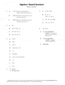 Middle School Algebra,Algebra,mathematics,activities,Combo