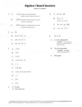 Middle School Algebra,Algebra,mathematics,activities,Combo