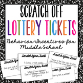 Middle School Behavior Incentive Coupons for Positive Clas