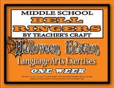 Middle School ELA Bell Ringers - Halloween