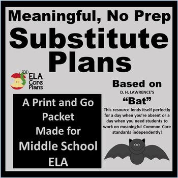 Middle School NO PREP  Poem Comprehension Packet To Leave