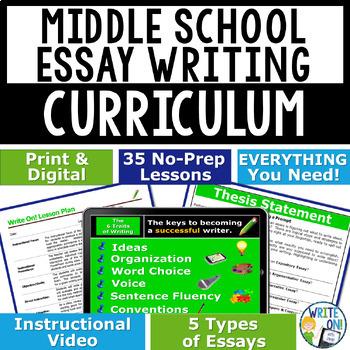 WRITING PROGRAM!!!! - MEGA BUNDLE!! 35 LESSONS!! - Middle School