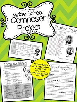 Composer Project for Middle School