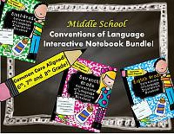 Middle School Conventions of Language Interactive Notebook
