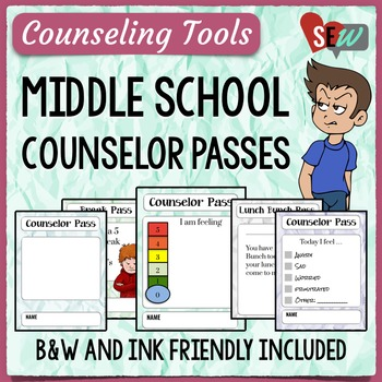 Crumpled Paper Theme Middle School Counselor Passes